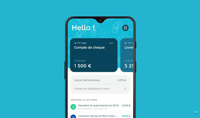 Appli hello bank!