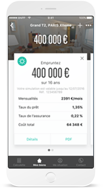 Application mobile de simulation de projets immobiliers – Buy My Home par BNP Paribas
