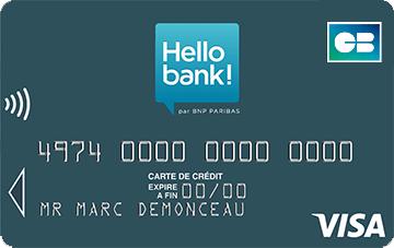 Carte Bancaire Visa Classic.Carte Visa Classic Carte Bancaire Gratuite Hello Bank