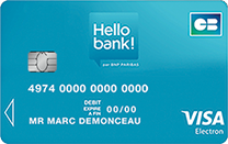 carte visa infinite carte bancaire hello bank. Black Bedroom Furniture Sets. Home Design Ideas